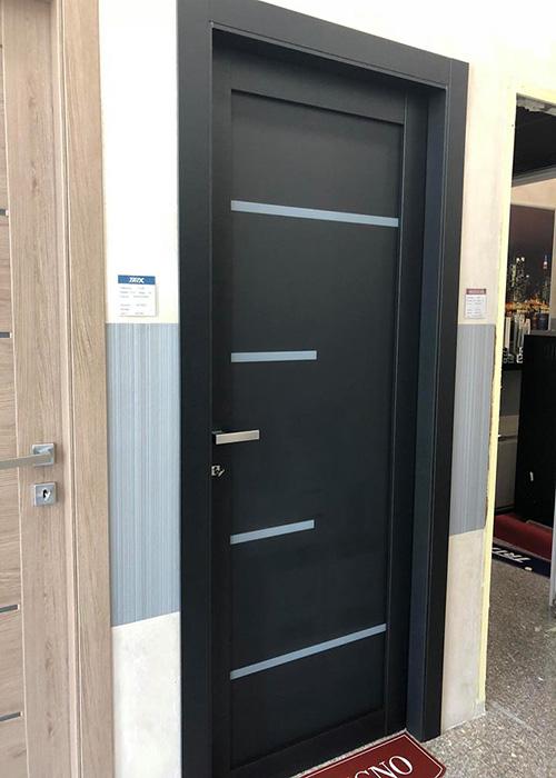 porta interna nera vf2 serramenti a orbassano torino