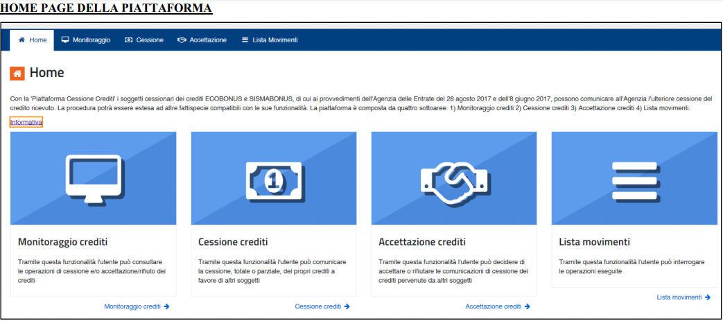 home-page-piattaforma-agenzia-entrate-cessione-credito